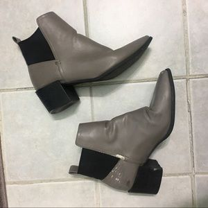 FOREVER 21 GREY HEEL BOOTIES